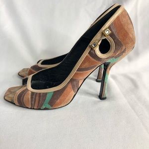 Gianni Versace Open Toe Heels